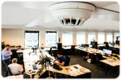 A smoke detector in the Dutch office