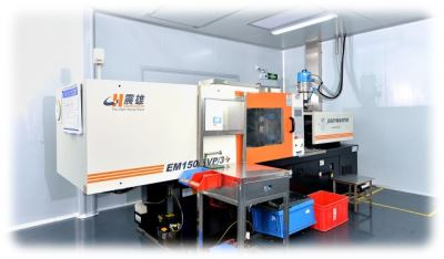 Clean room injection moulding