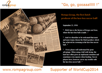 supporter of World Cup 2014  - Rompa Group