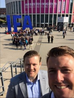 Martijn (r) and Peter at IFA