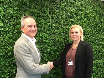 Patrick Gerard (CEO Rompa Group) and Pia Fastrup Rasmussen (director category management (plastics, sealing and c-parts) at Danfoss).
