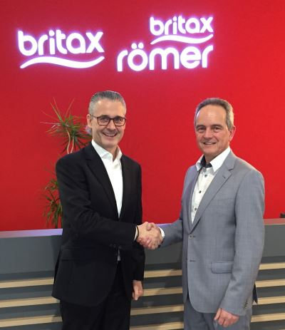 Rainer Stäbler, Managing Director EMEA Britax Römer and Patrick Gerard, CEO Rompa Group.