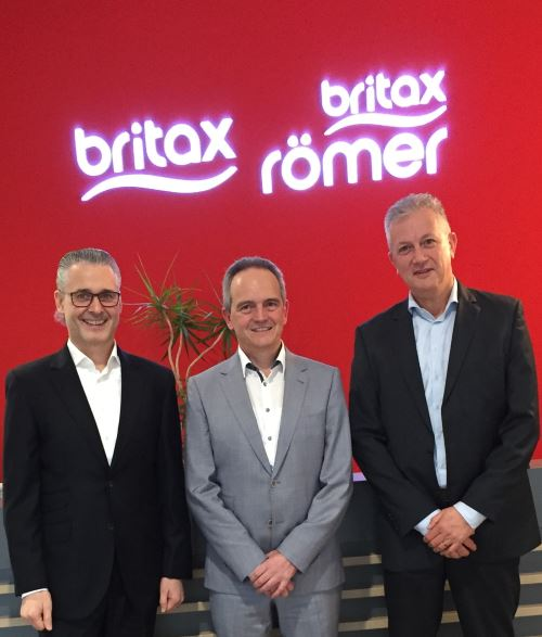 Rainer Stäbler, Managing Director EMEA at Britax Römer, Patrick Gerard, CEO Rompa Group and Rudi Ghijsens, European Purchase Manager at Britax Römer.