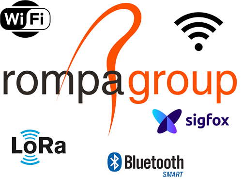 Afbeelding: Rompa logo with connectivity